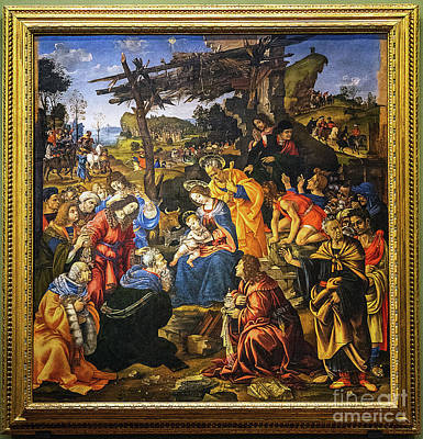 Photograph - Adoration Of The Magi Filippino Lippi Uffizi Gallery Florence Italy by Wayne Moran