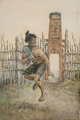 Painting - Adorned Robley, Arawa Soldier by Adorned Robley