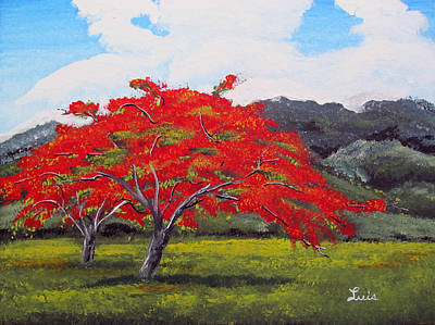 Painting - Adorning Nature by Luis F Rodriguez