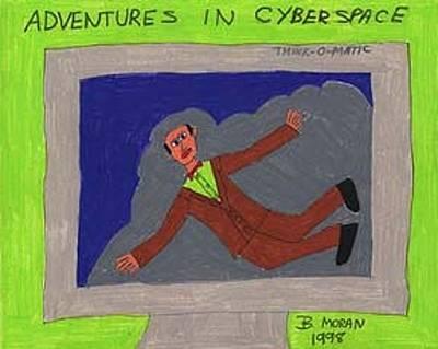 Drawing - Adventures In Cyberspace by Barb Moran