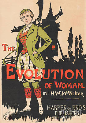 Painting - Advertising For The Evolution Of Woman By Harry Whitney Mcvickar, 1896  by Anonymous