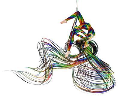 Surrealism Digital Art - Aerial Hoop Dancing Ribbons of Hair PNG by Betsy Knapp