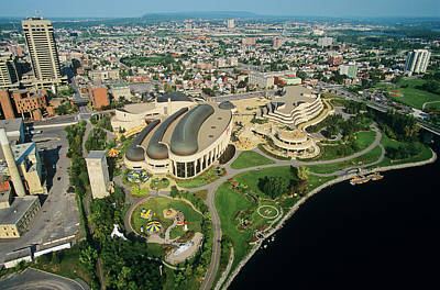 Gatineau Park Photograph - Aerial Of Canadian Museum Of by Russ Heinl