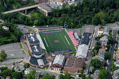 Photograph - Aerial Of Mhs Football Field And School by Dan Friend