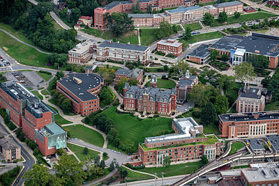 Photograph - Aerial Of Woodburn Hall Downtown Campus Area by Dan Friend