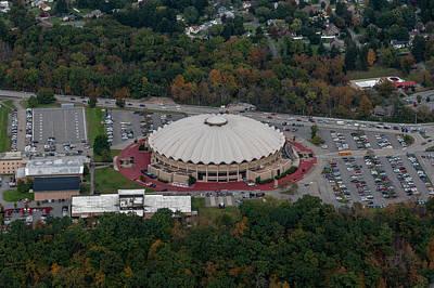 Photograph - Aerial Of Wvu Coliseum by Dan Friend