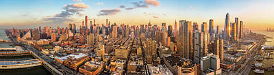 Photograph - Aerial Panorama Of New York Skyline by Mihai Andritoiu