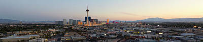 Photograph - Aerial Panoramic View Of Las Vegas At by Chrisp0