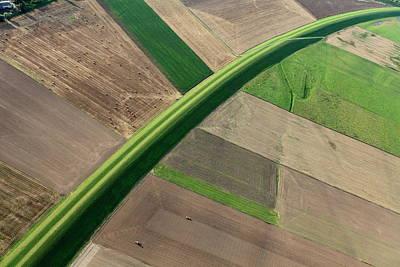 Photograph - Aerial Photo Vistula Flood Embankment by Dariuszpa