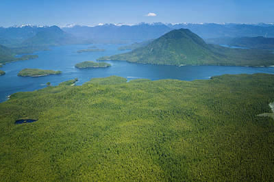 Photograph - Aerial View Clayoquot Sound West Coast by Lucidio Studio, Inc.