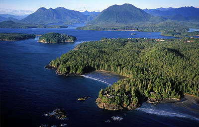 Flying Photograph - Aerial View, Including Clayoquot Sound by Chris Cheadle