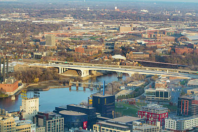 Photograph - Aerial View - Interstate 35w Bridge - Minneapolis by Patti Deters