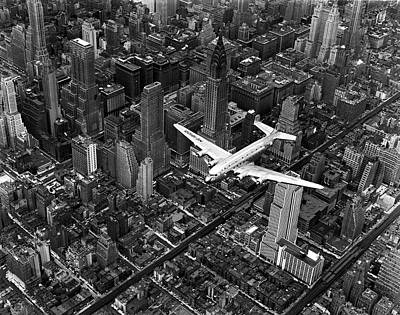 Photograph - Aerial View Of Airline Passenger Plane by Margaret Bourke-white