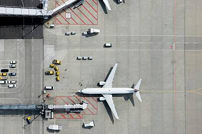 Photograph - Aerial View Of Airplane by Fstop Images - Stephan Zirwes