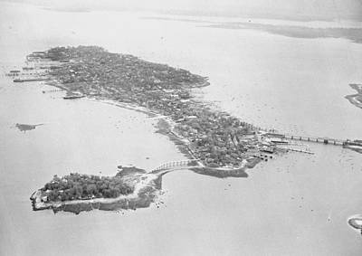 The Bronx Photograph - Aerial View Of City Island In The Bronx by New York Daily News Archive
