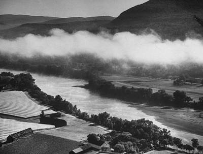 Photograph - Aerial View Of Morning Mist Rising Fr. T by Margaret Bourke-white
