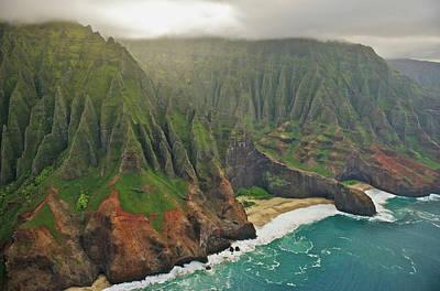 Photograph - Aerial View Of Na Pali Coast, Kauai by Enrique R. Aguirre Aves