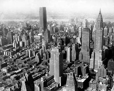 Photograph - Aerial View Of New York City by New York Daily News Archive