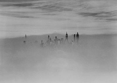 Photograph - Aerial View Of New York City Skyline In by New York Daily News Archive