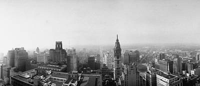 Photograph - Aerial View Of Philadelphia.  Photo By by Margaret Bourke-white