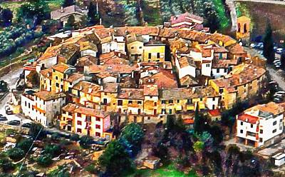 Photograph - Aerial View Of Ripa In Umbria by Dorothy Berry-Lound