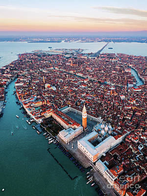 Photograph - Aerial View Of San Marco, Venice by Matteo Colombo