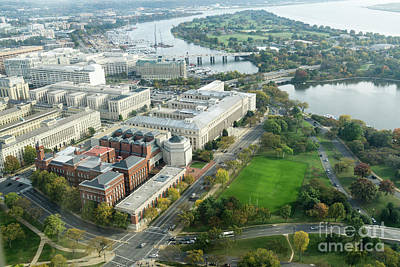 Photograph - Aerial View Of Southwest Washington Dc, Including The Holocaust  by William Kuta