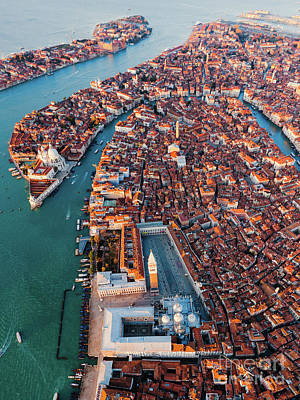 Photograph - Aerial View Of St Mark Square, Venice, Italy by Matteo Colombo