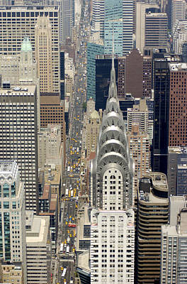 Aerial View Of The Chrysler Building In Art Print