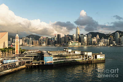 Photograph - Aerial View Of The Star Ferry Terminal In Hong Kong by Didier Marti