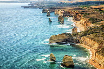 Photograph - Aerial View Twelve Apostles, Port by Drrave