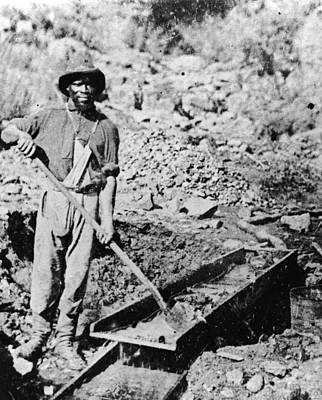 African-american Gold Miner Art Print by Hulton Archive