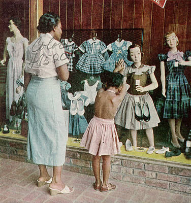 Us State Photograph - African American Ondria Thornton Window by Gordon Parks