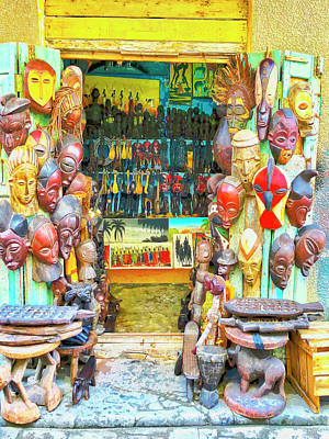 Photograph - African Art Shop by Dominic Piperata