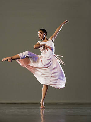 Photograph - African Female Ballet Dancer Dancing by Erik Isakson
