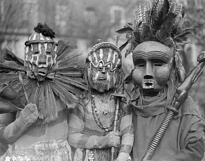 Photograph - African Masks by Fox Photos
