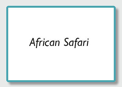 Photograph - African Safari by Kathy Adams Clark