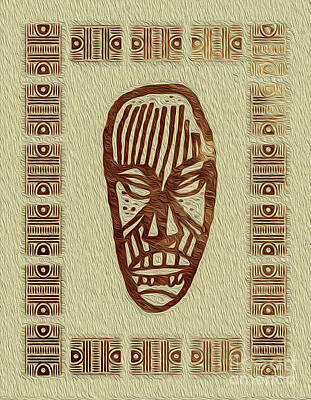 Digital Art - African Tribal Mask Expression 2 by Kenneth Montgomery