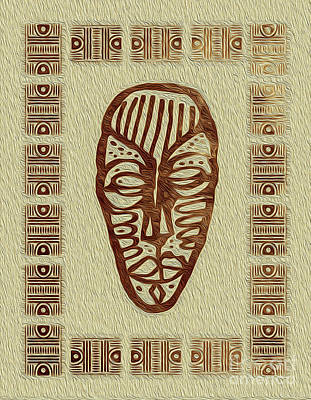 Digital Art - African Tribal Mask Expression 3 by Kenneth Montgomery