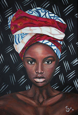 Painting - African Woman by Sue Art studio