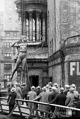 Photograph - After 30 Years, The Famous Statue Of by New York Daily News Archive