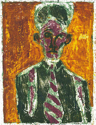 Painting - After Billy Childish Painting Otd 12 by Artist Dot