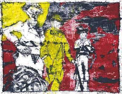 Painting - After Billy Childish Painting Otd 13 by Artist Dot