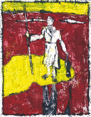 Painting - After Billy Childish Painting Otd 14 by Artist Dot