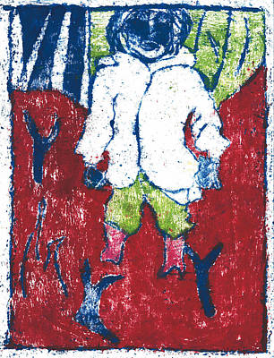 Painting - After Billy Childish Painting Otd 15 by Artist Dot