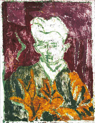 Painting - After Billy Childish Painting Otd 2 by Artist Dot