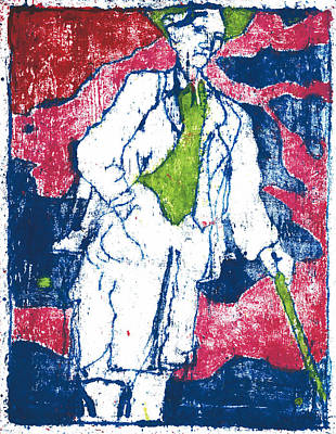 Painting - After Billy Childish Painting Otd 21 by Artist Dot