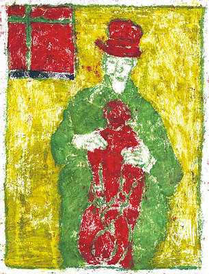 Painting - After Billy Childish Painting Otd 23 by Artist Dot