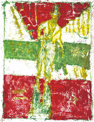 Painting - After Billy Childish Painting Otd 24 by Artist Dot