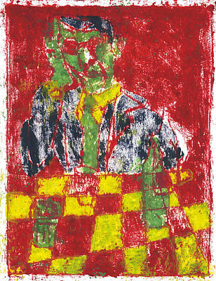 Painting - After Billy Childish Painting Otd 25 by Artist Dot